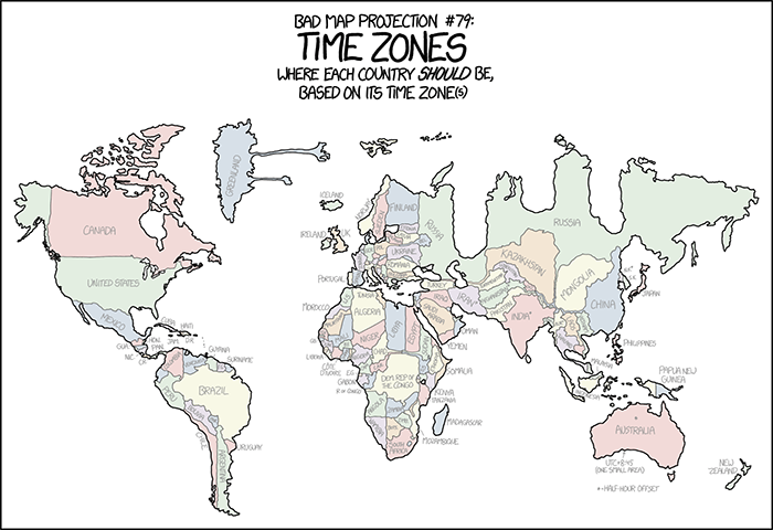 Bad map projection time zones 2x