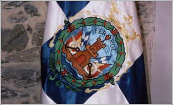 Bandera-Escudo-El-Ferrol