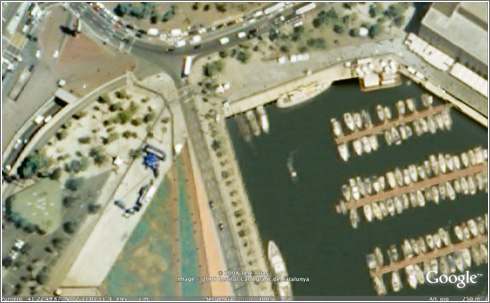 Barcelona en Google Earth