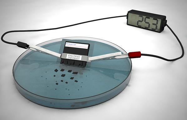 Bateria temporal disuelve en agua