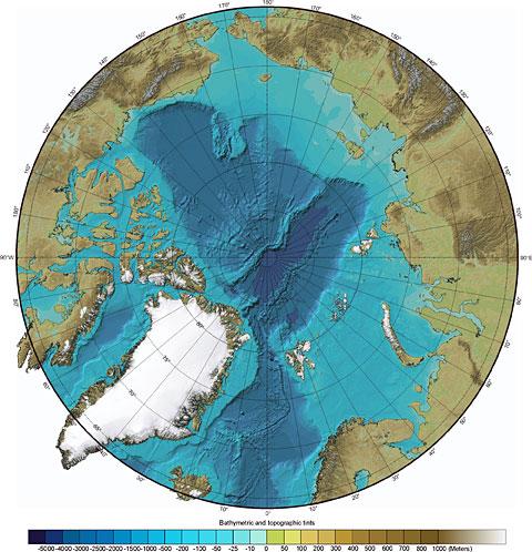 Batimetria del Ártico