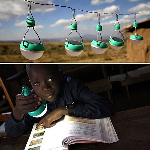 Tender las bombillas por el día para tener luz por la noche