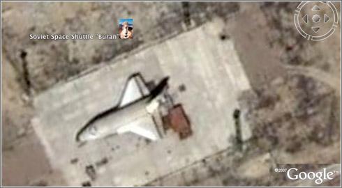 Buran en Google Earth