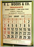 Insurance Company Calendar (CC) Chris Hartman