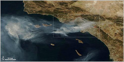 Incendios de California vistos desde el espacio