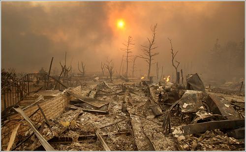 Incendios de California vistos desde la tierra