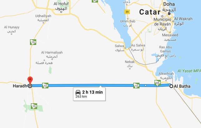 Carretera larga de narices arabia saudi