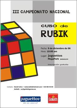 Campeonato de España Rubik 2006, Bilbao