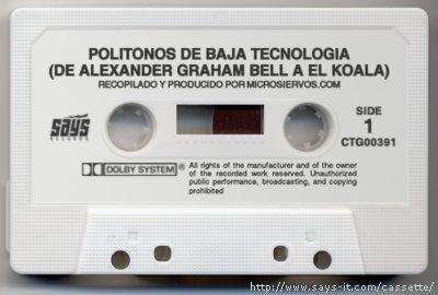 Politonos de Baja Tecnología (De Alexanger Graham Bell a El Koala)