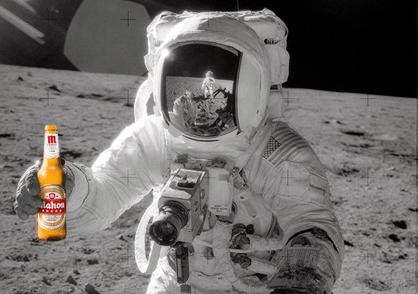 Cerveza en la luna fuck yeah
