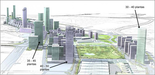 La nueva «city» de Madrid: más de 20 nuevos rascacielos hacia 2020