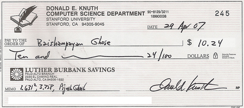 Cheque de Knuth (CC) ghoseb