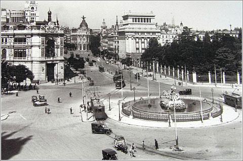 Madrid: Cibeles en 1929 (Foto en Fuenterrebollo.com)