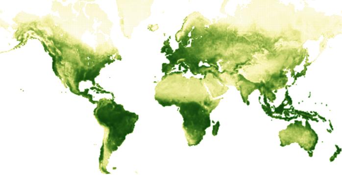 Ciclo estacional vegetacion planeta