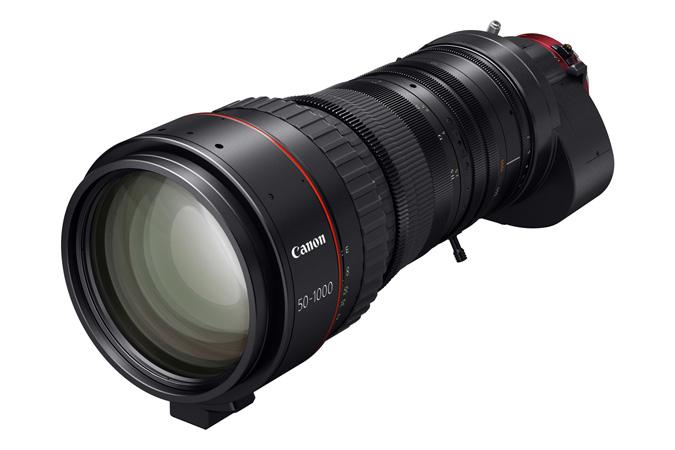 Cine servo 50 1000mm t5 0 8 9 ultra telephoto zoom lens 3q right d