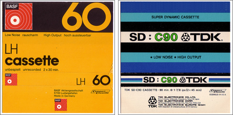 Carátulas de cassettes vírgenes