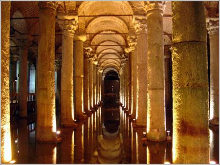 Cisterna de Yebarán, en Estambul