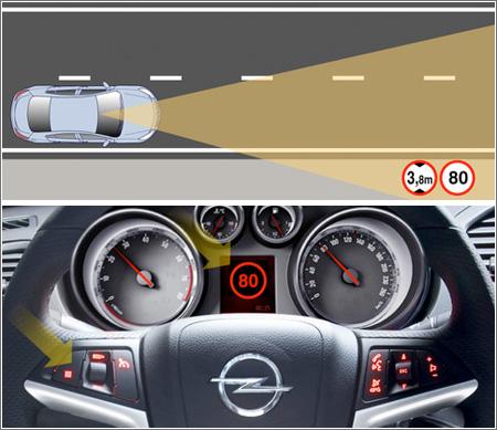 Coche Avisa presencia señales de tráfico