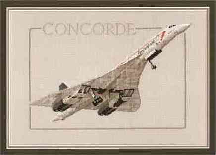 Un Concorde en Punto de Cruz