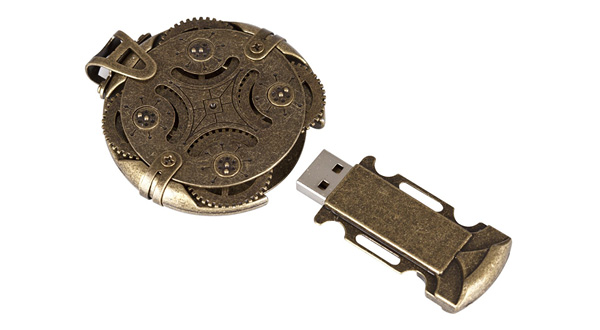 Memorias USB protegidas dentro de un criptex