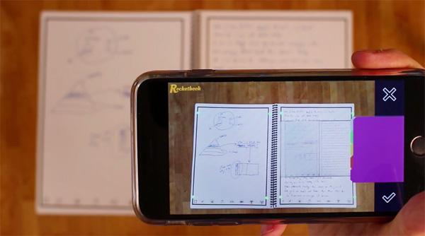 Cuaderno Rocketbook se borra en el microondas
