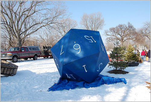 d20: Powderhorn Art Sled Rally (CC) Emoeby