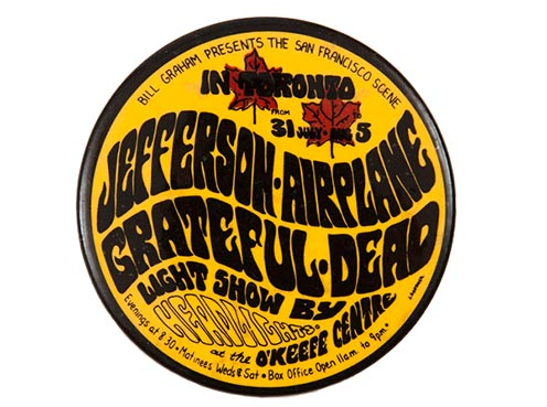 Foto: Jefferson Airplane and Grateful Dead Concert Souvenir Pin (CC) Toronto History @ Flickr