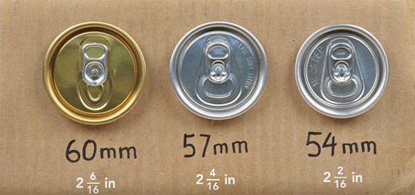 Diametro trapa lata refresco