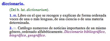 Diccionario en RAE