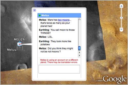 Discutiendo con un marciano en Google Earth, basado en hecho reales