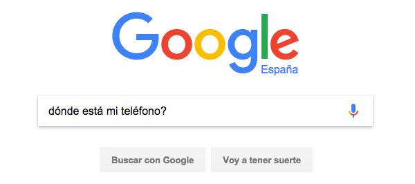 Google: Donde esta mi móvil
