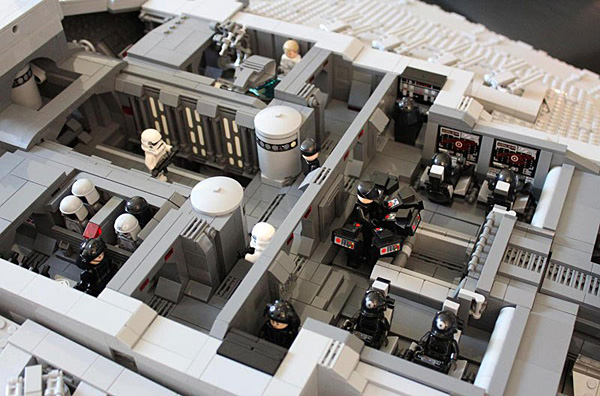 Doomhandle lego star destroyer with three level interior 11