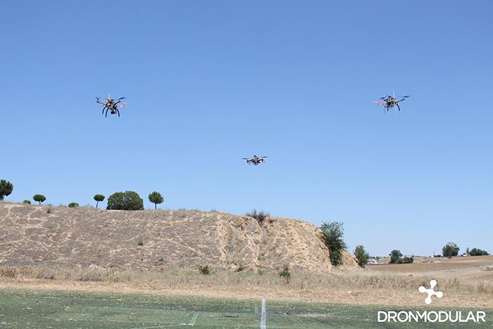Dron modular enjambre