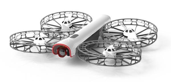 Un dron plegable y seguro que no te cortará la cabeza con las hélices
