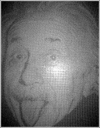 Einstein, hecho con dados