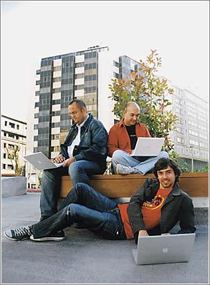 Wicho, Alvy y Nacho, para El País Semanal. Foto: Javier Morán para El País