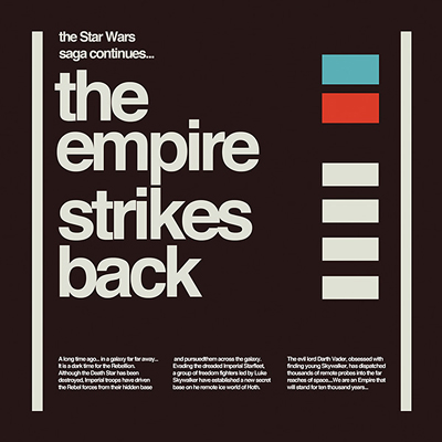 Empire strikes back helvetica
