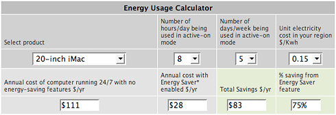 Energy Usage Calculator