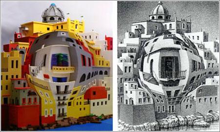 Escher en LEGO, de Andrew Lipson