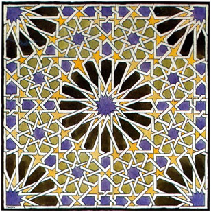 Patrón geométrico de la Alhambra