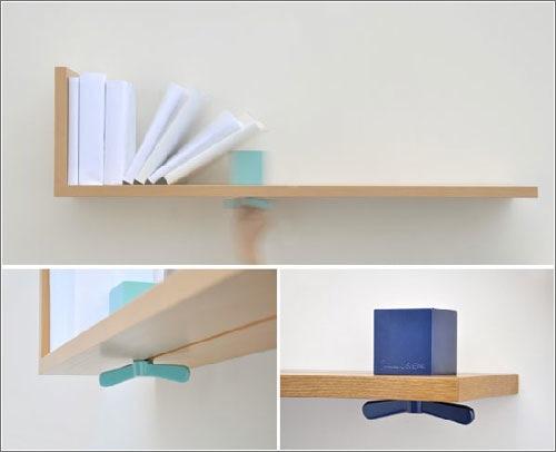 La estanter a que es sujeta libros microsiervos arte y - Estanterias diseno para libros ...