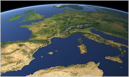 Views of the Earth - Europa
