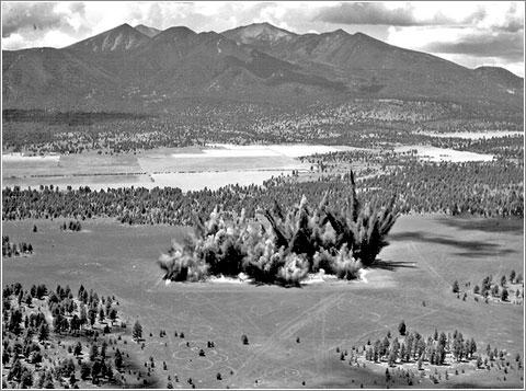 Explosiones campo de cráteres