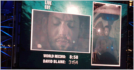 David Blaine Drowned Alive, final, foto de Sharad Ganesh