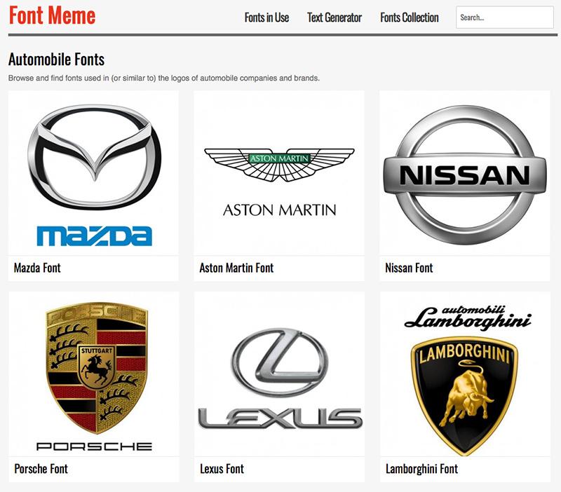 Font meme marcas coche