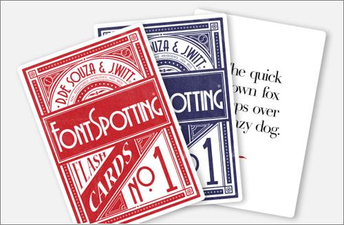 Font Spotting es una baraja de cartas para conocer las tipografías