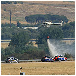 Foto del accidente del avión de Spanair en Barajas (C) Ricardo Sanabria