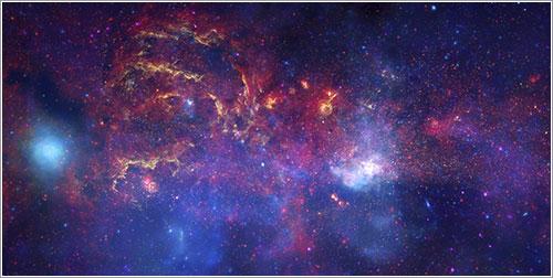 Los grandes observatorios exploran el centro galáctico - NASA, ESA, SSC, CXC, y STScI