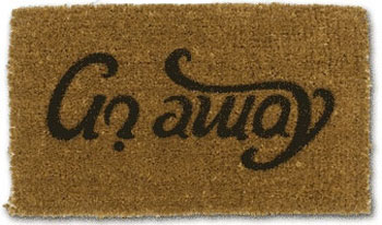 Felpudo con Ambigrama, «Go Away»