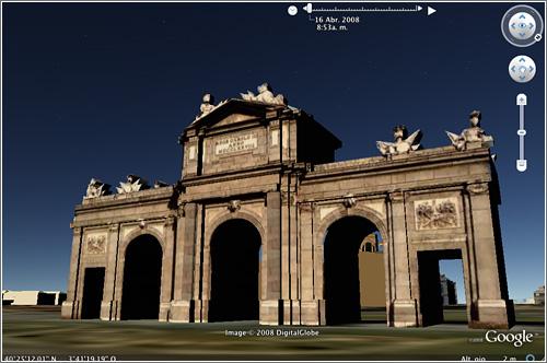 Google Earth 4.3 beta, Puerta de Alcalá